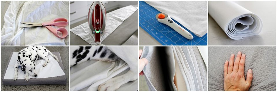 DIY waterproof and pee resistant no-sew dog bed toppers