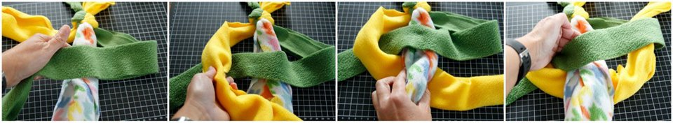 How to weave a cobra knot for a DIY dog tug toy