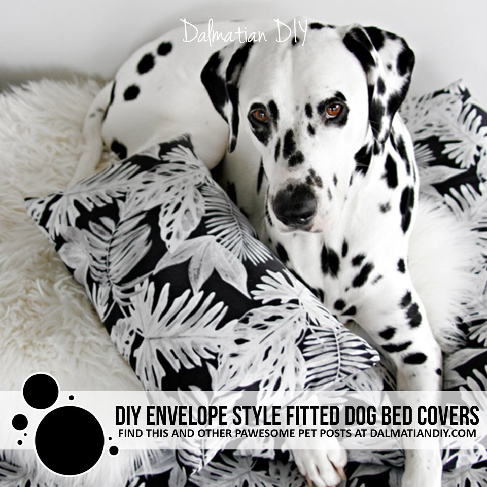 DIY envelope style fitted dog bed cushion covers
