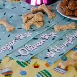 DIY personalised dog name birthday bandanas