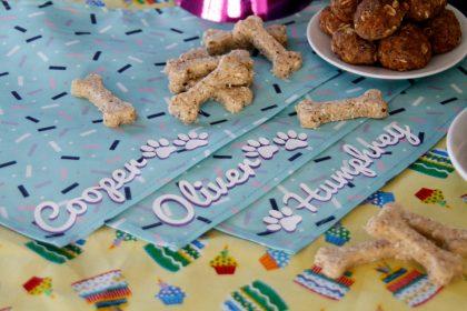 DIY personalised dog name birthday bandanas