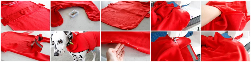 Sewing a fleece dog coat