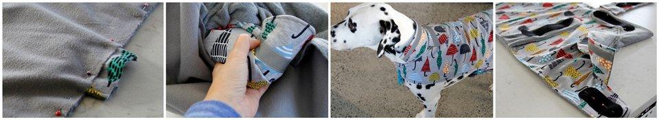 Sewing a dog raincoat
