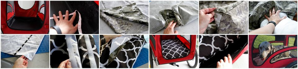 Making a custom fitted cushion for a dog stroller