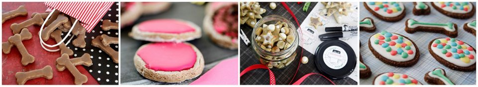 Decorating homemade dog treats with icings and coatings