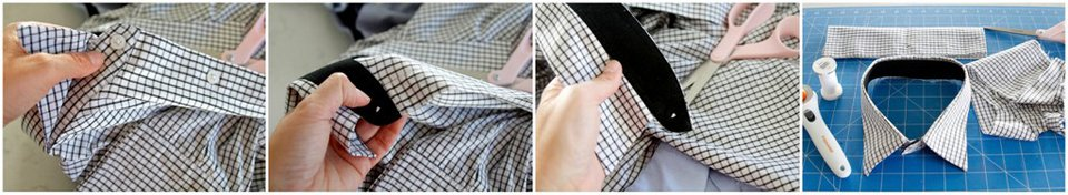 How make a recycled dress shirt dog collar