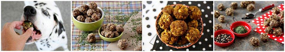Homemade meatball treats for dogs