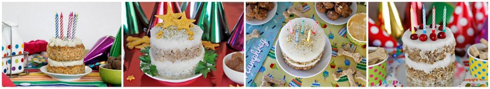 Frosting and decoration ideas for homemade DIY birthday cakes for dogs