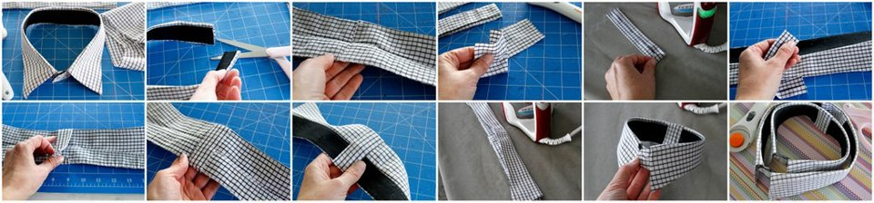 How to resize a recycled shirt collar to fit a smaller dog
