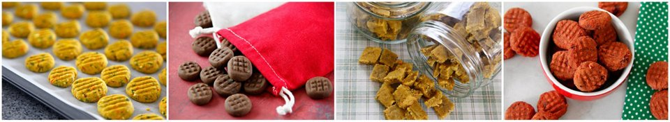 Simple homemade baked biscuit dog treats