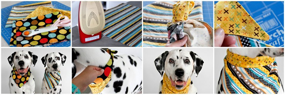 How to make DIY reversible dog bandanas more versatile for greater use and wearing options