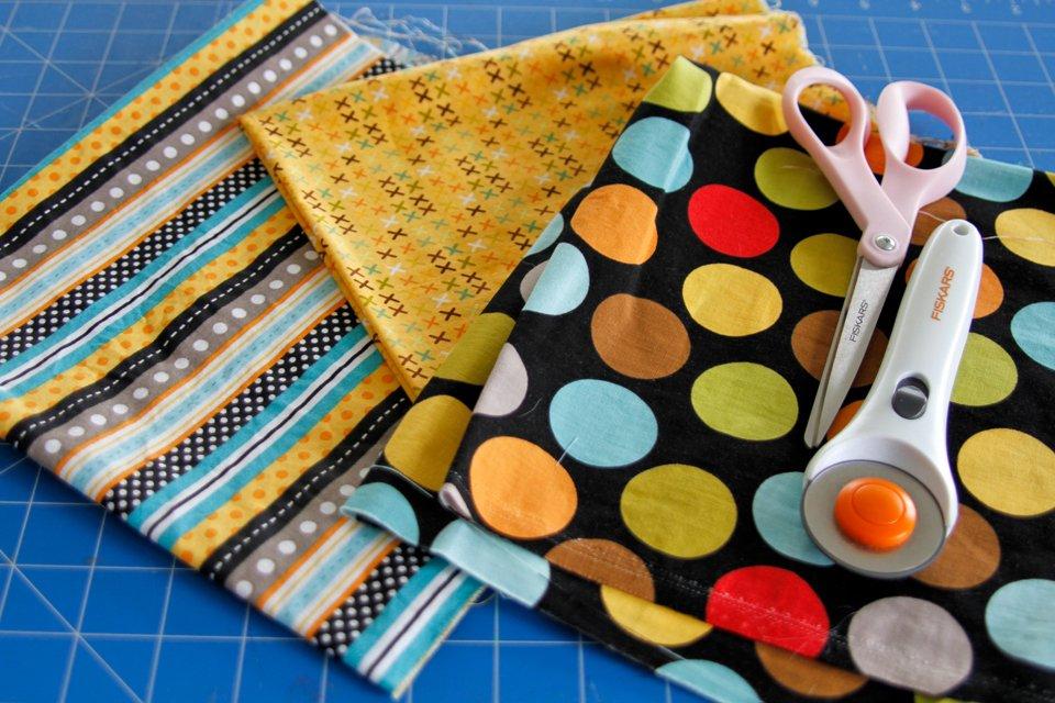 Materials for making DIY dog bandanas