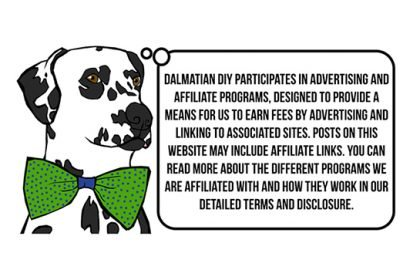 Dalmatian DIY Blog Disclosure - Dalmatian DIY participates in advertising and affiliate programs, designed to provide a means for us to earn fees by advertising and linking to associated sites. Posts on this website may include affiliate links. Read more about the different programs we are affiliated with and how they work in our terms and disclosure.
