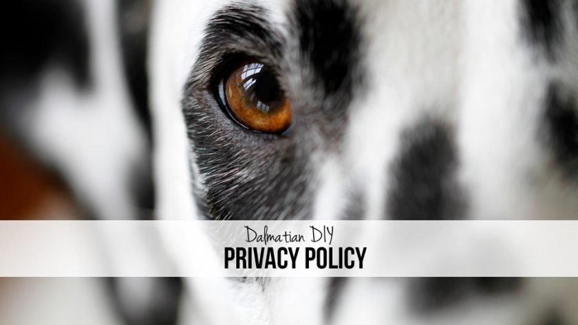 Dalmatian DIY Dog Blog Privacy Policy