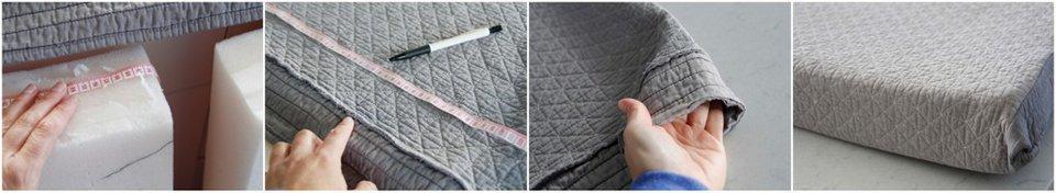 DIY Recycled Matelasse Blanket Dog Beds