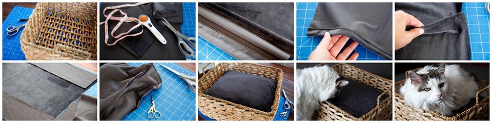 How to make a fitted pet bed cushion for a basket
