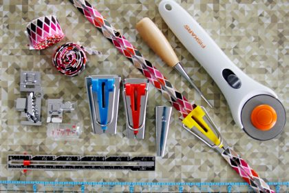 Tools for making binding tape