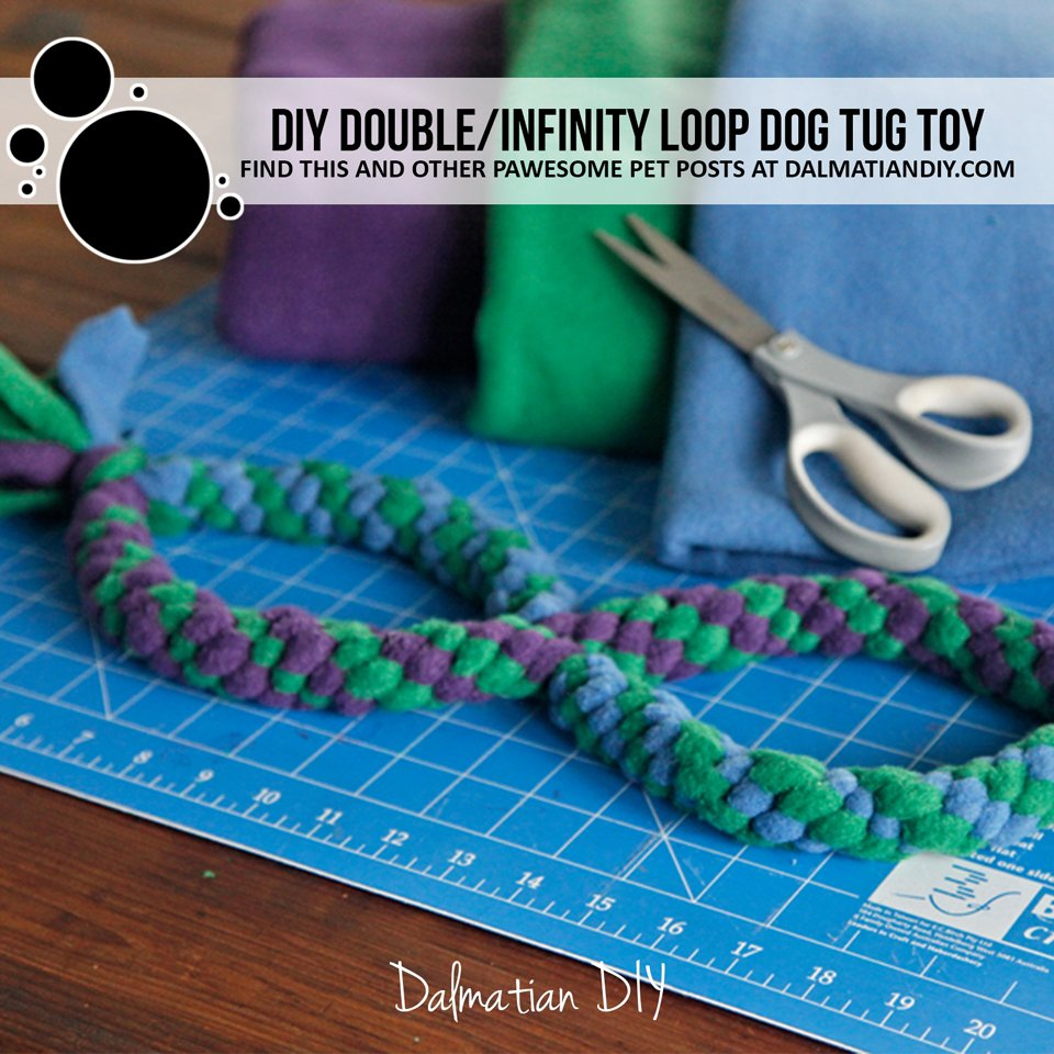 DIY infinity double loop dog tug toys