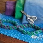 DIY infinity double loop dog tug toy