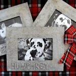 DIY faux vintage metallic personalised pet picture frames
