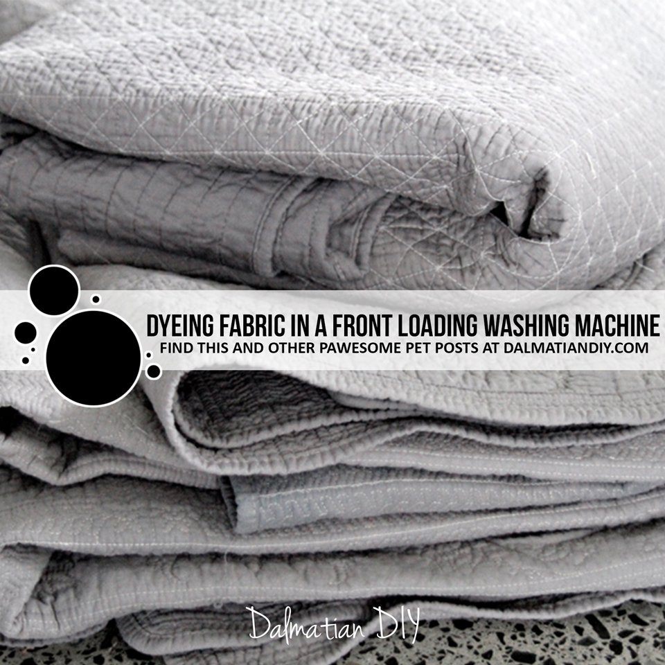 Dyeing fabric in a front loading washing machine