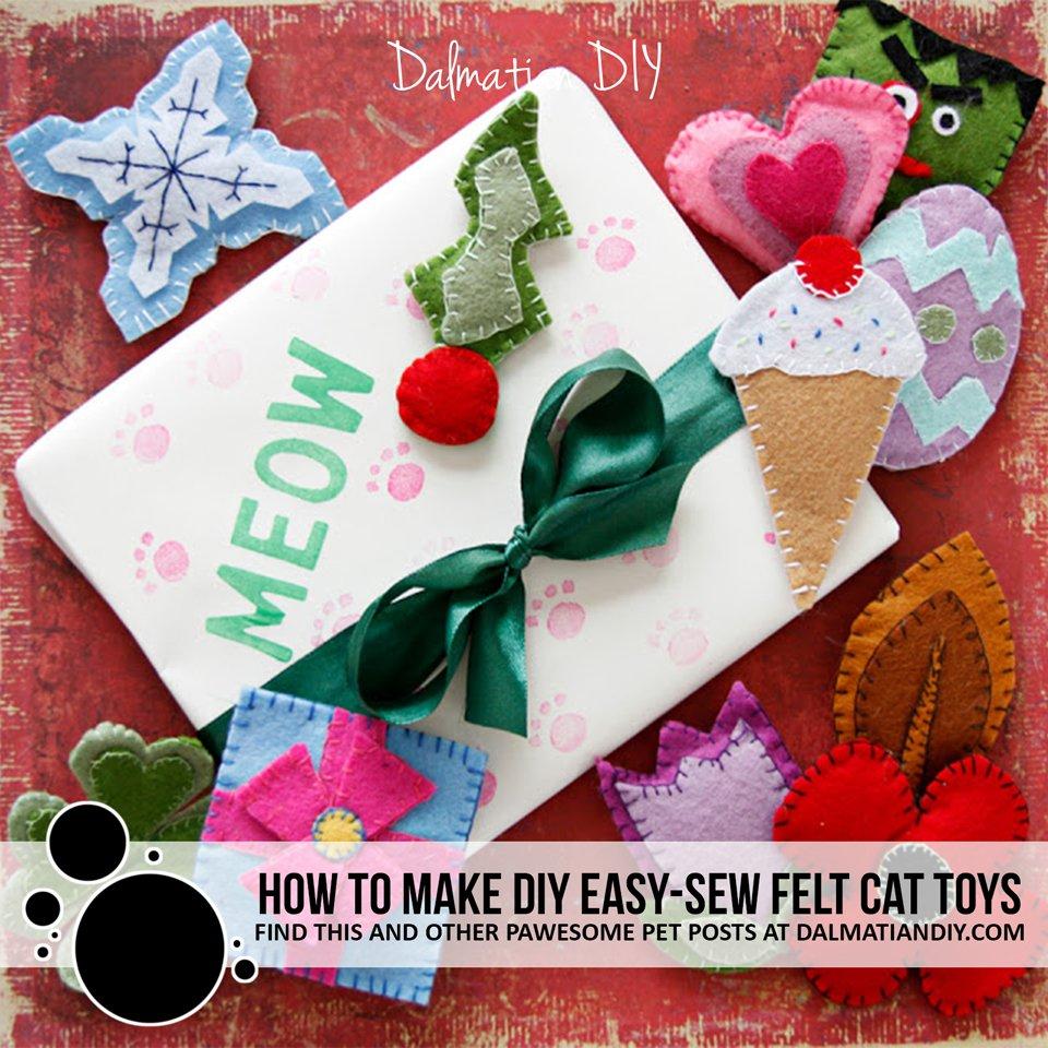 How to make easy-sew felt DIY cat toys