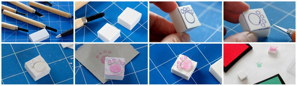 How to carve simple homemade stamps