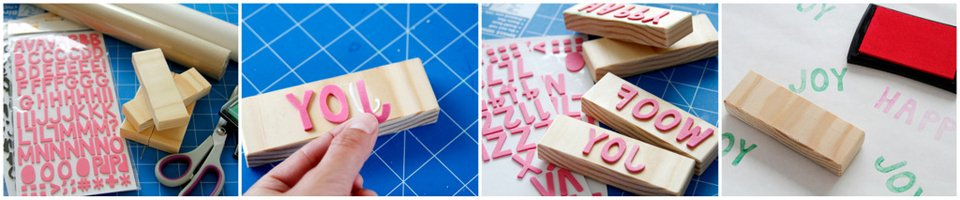 Creating custom stamps using foam cut outs