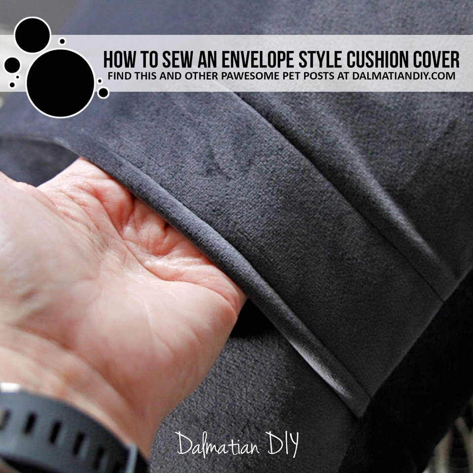 How to sew a DIY envelope style cushion cover or throw pillow case