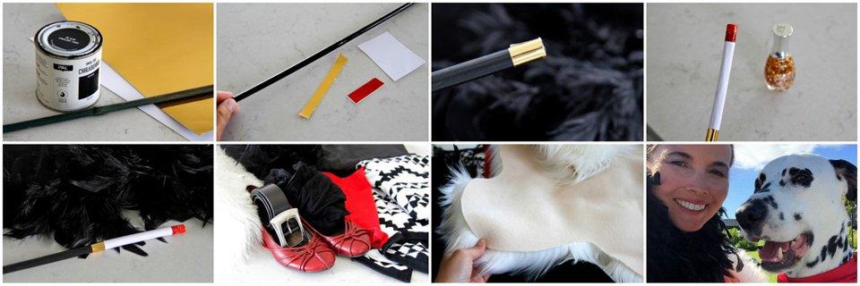 Quick Cruella de Vil DIY costume with homemade long cigarette