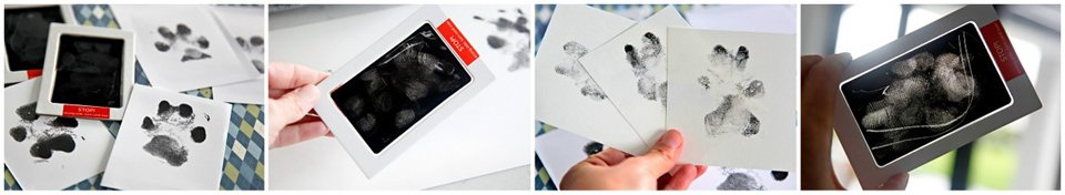 Touchless ink print kits fading over multiple uses with dog paw prints