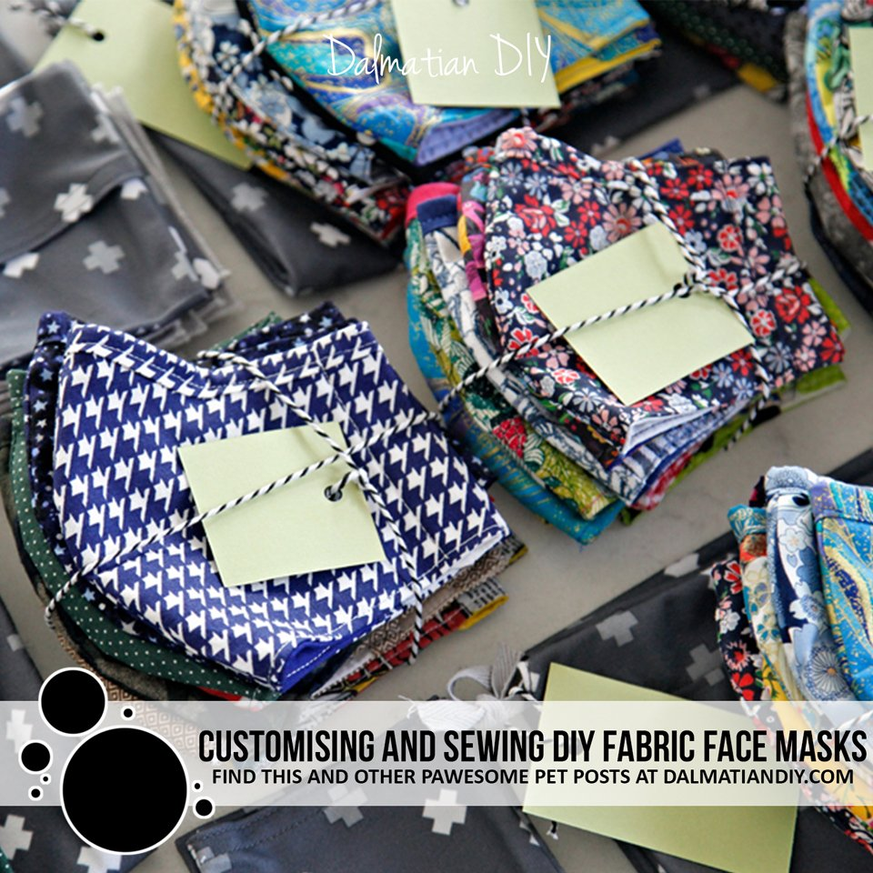 Customising and sewing DIY fabric face masks, storage, and more