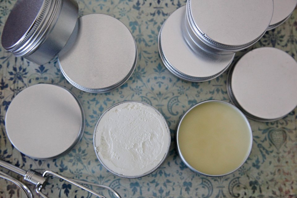 Comparing homemade dog moisturiser whipped butter vs. wax paw balm
