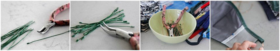 Making DIY fabric face mask nose wires using jewellery wire