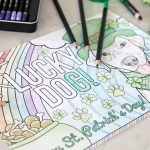"Free ""Lucky Dog"" printable St. Patrick's Day colour sheet"