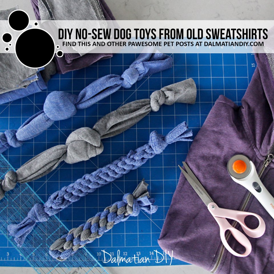 How to make DIY dog toys from old sweatshirts