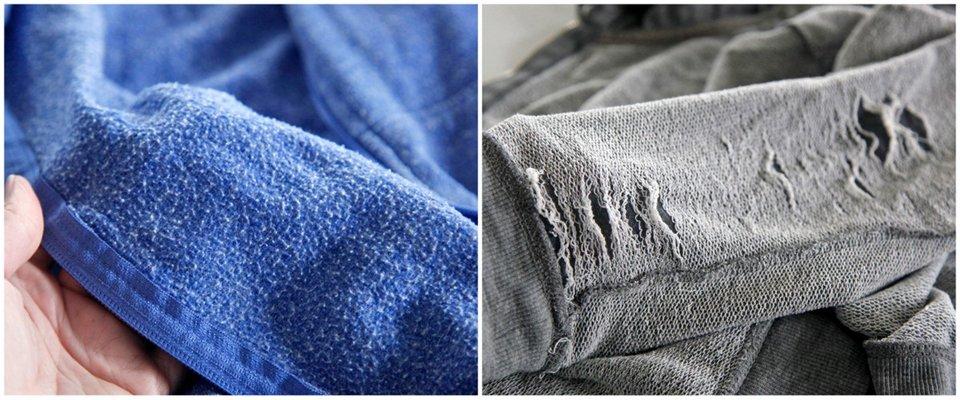 Different types of sweatshirt materials